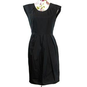 3/$35 Lida Baday Black Silk Cap Sleeve Dress